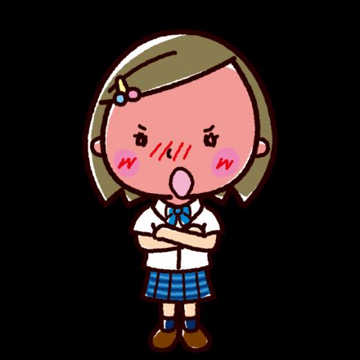 デレのイラスト(ツンデレ・女子学生)(2カット)