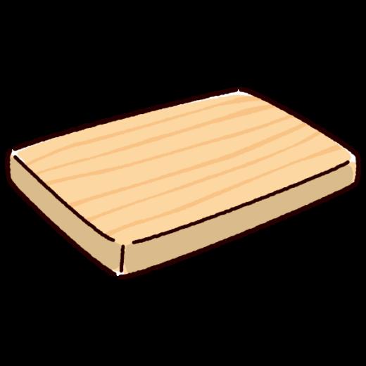 まな板他のイラスト(木製)