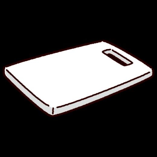 まな板のイラスト(プラスチック)