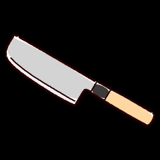 菜切り包丁のイラスト(2カット)