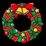 かわいいリースのイラスト(クリスマス)