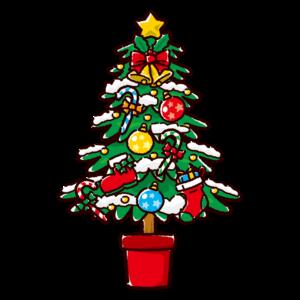 クリスマスツリーのかわいいイラスト