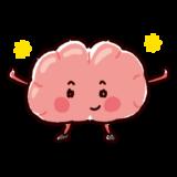 元気な脳のキャラクターイラスト(健康な臓器)