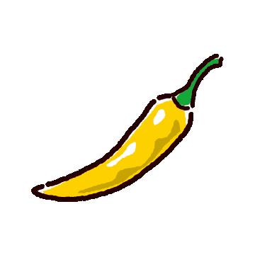 黄色唐辛子のイラスト(2カット)