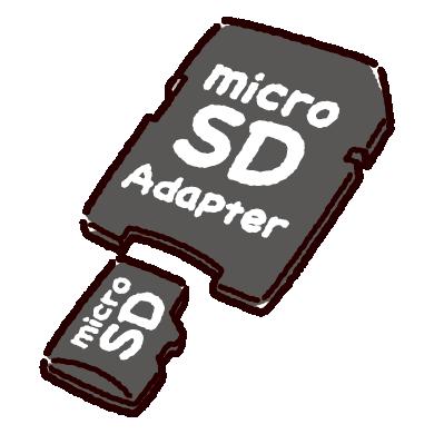 マイクロSDカードアダプターのイラスト(2カット)