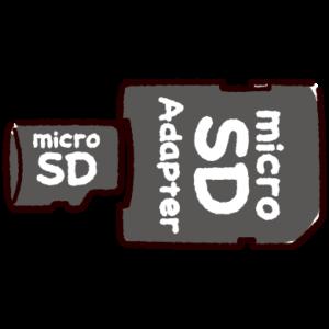 マイクロSDカードアダプターのイラスト