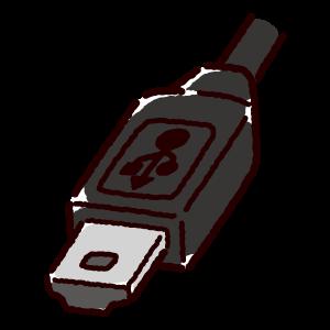 USB端子のイラスト(Mini・コネクタ)黒