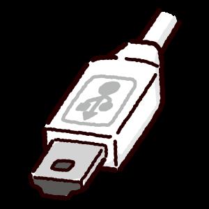 USB端子のイラスト(Mini・コネクタ)(2カット・3カラー)