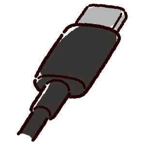 USB端子のイラスト(Type-C・コネクタ)黒