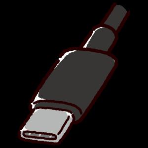 USB端子のイラスト(Type-C・コネクタ)(2カット・3カラー)