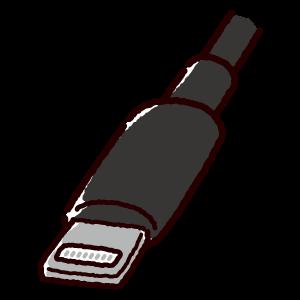 ライトニング端子のイラスト(Lightning・コネクタ)黒