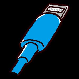 ライトニング端子のイラスト(Lightning・コネクタ)青