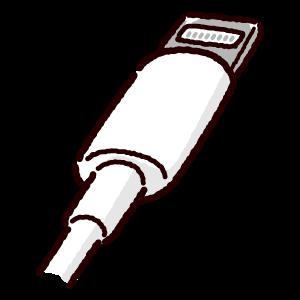 ライトニング端子のイラスト(Lightning・コネクタ)白