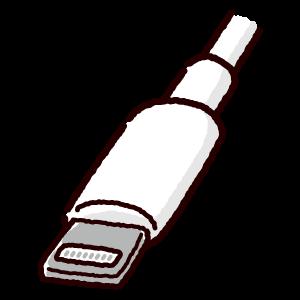 ライトニング端子のイラスト(Lightning・コネクタ)(2カット・3カラー)