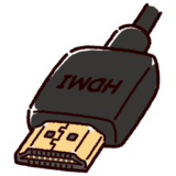 HDMI端子のイラスト(コネクタ)黒