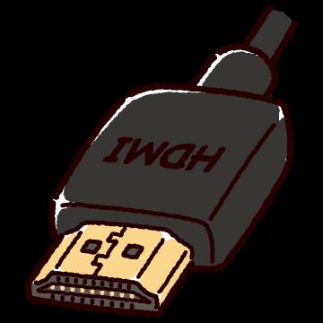 HDMI端子のイラスト(コネクタ)(2カット・3カラー)