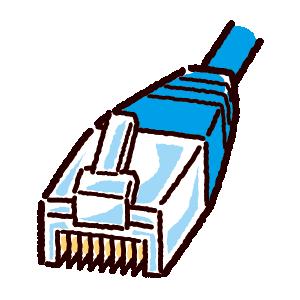LAN端子のイラスト(コネクタ)(2カット・3カラー)