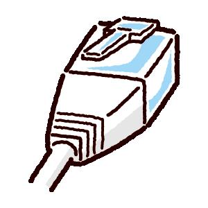 LAN端子のイラスト(コネクタ)白