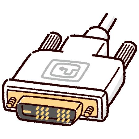 DVI端子のイラスト(コネクタ)(2カット・3カラー)