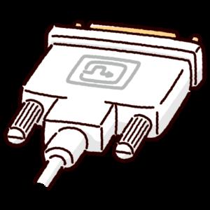 DVI端子のイラスト(コネクタ)白