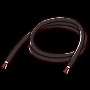 配線ケーブルのイラスト黒