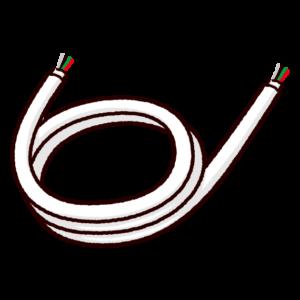 配線ケーブルのイラスト白