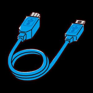 変換ケーブルのイラスト(USB-B・USB-Mini)
