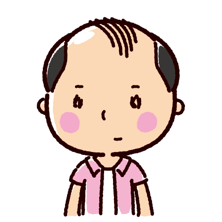 薄毛の男性のイラスト(AGA)(4カット)