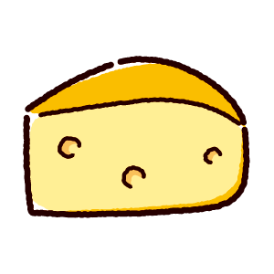 ゴーダチーズのイラスト