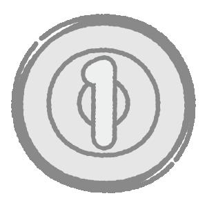 一円玉のイラスト(硬貨・お金)