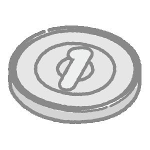 1円玉のイラスト(硬貨・お金)