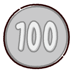 100円玉のイラスト(硬貨・お金)