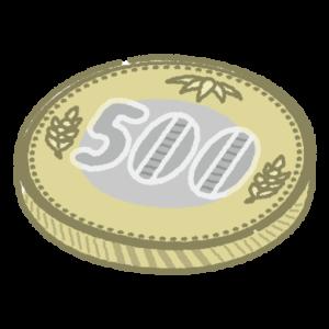新500円玉のイラスト(硬貨・お金)