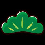 松の葉のイラスト(松竹梅)