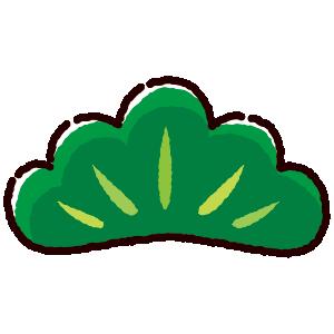 松の葉のイラスト(松竹梅)(4カット)