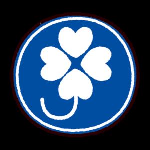 クローバーマークのイラスト(身体障害者標識、四つ葉マーク)