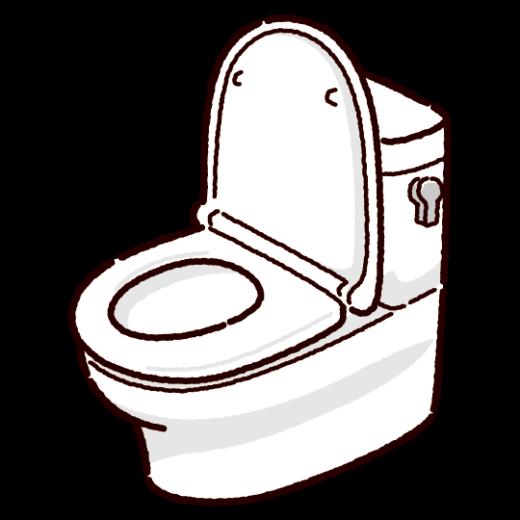 洋式トイレのイラスト(便器)(2カット)