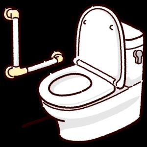 洋式トイレのイラスト(便器・手すり)