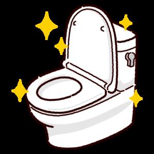 きれいなトイレのイラスト(洋式便器)