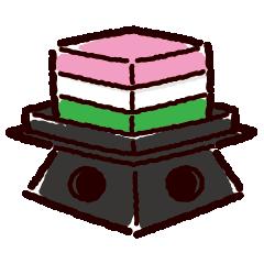 ひし餅のイラスト(ひな祭り)(4カット・2カラー)