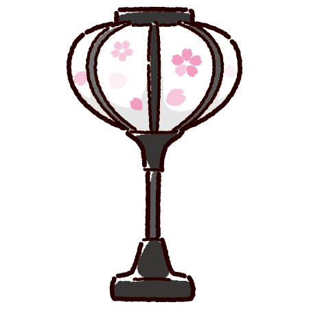 ぼんぼりのイラスト(ひな祭り)(4カット・4カラー) | イラストくん