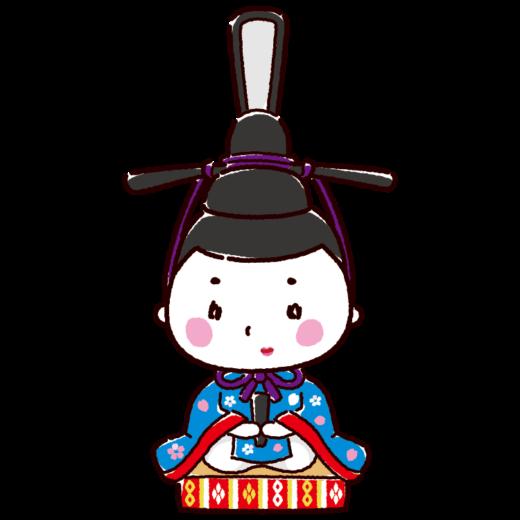 雛人形のイラスト(お内裏様・男雛・ひな祭り)(4カット)