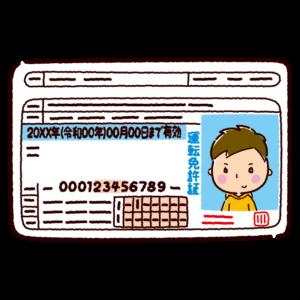 運転免許証のイラスト(若者・男性)