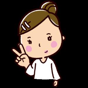 指で数を数えるイラスト(女性・2)