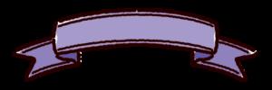 リボンのイラスト(紫)