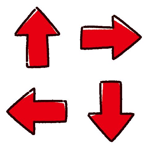 矢印のイラスト(4カット×4カラー)