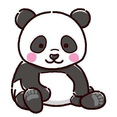 パンダのイラスト(2カット)