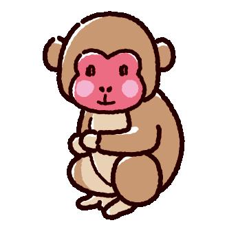 猿のイラスト(2カット)