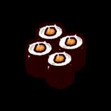 納豆巻きのイラスト(巻き寿司)