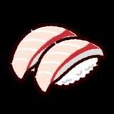 お寿司のイラスト(はまち)